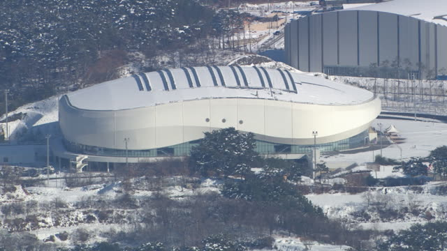 Aerial view of Ice Arena (Stadium for 2018 Winter Olympics)