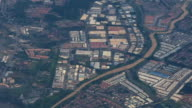 Aerial view of industrial district