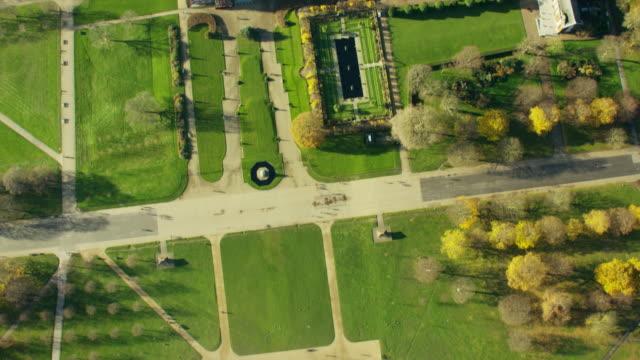 Aerial view of Kensington Palace London UK