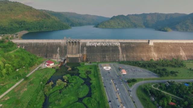 Aerial View of Khun Dan Prakan Chol Dam, Thailand