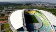 Aerial View of Landscape of Daegu Stadium (Daegu World Cup Stadium)