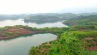 aerial view of landscape of Hang Zhou Qiandao Lake 4k