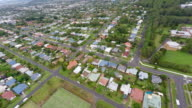 Aerial View of Lismore Country Town in Australia With Flood