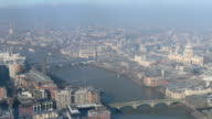 Aerial view of London timelapse