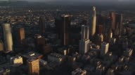 Aerial view of Los Angeles downtown skyscrapers. Shot in October 2010.