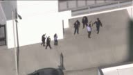 KTLA Aerial View of Man Taken Into Custody After Bank Robbery Bomb Threat in Downtown LA on October 26 2015The call initially came out as a man who...
