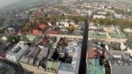 Aerial View of Market Square, Krakow Poland