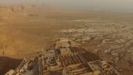 Aerial view of Masada at sunrise