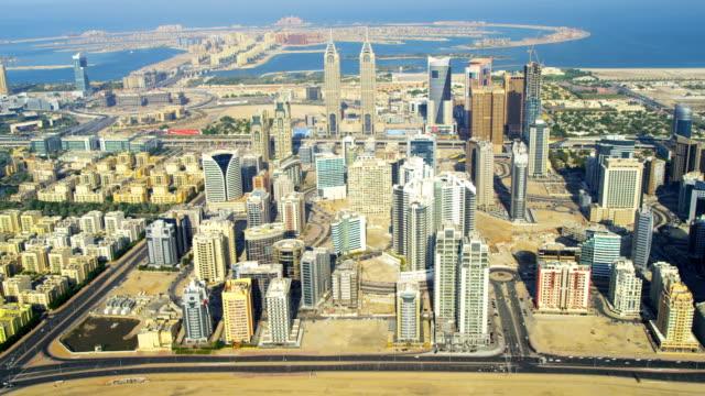 Aerial view of Media City Dubai