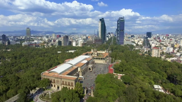 Aerial View of Mexico City from Chapultepec Park