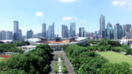 Aerial view of modern buildings and urban cityscape of Guangzhou,real time.