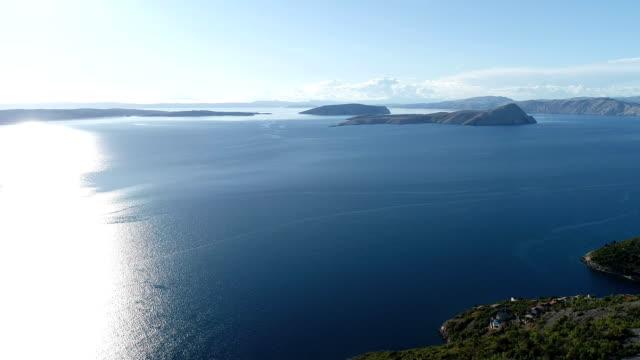 Aerial view of mountainous coastline