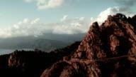 Luftansicht der Berge von Calanche von Piana