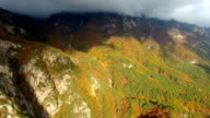 Aerial view of Mt.Seoraksan (Biosphere preservation district by UNESCO) in Autumn