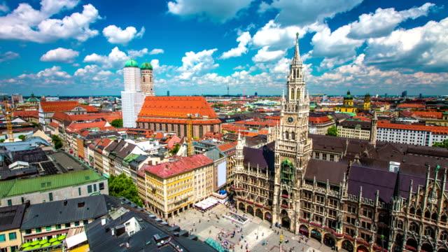 ZEITRAFFER: Luftbild von München