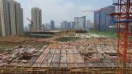 Luftaufnahme von neuen Baustelle in hangzhou. 4 k