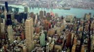 Aerial view of new york city midtown skyline landmarks