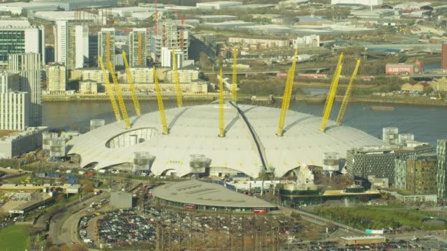Aerial view of O2 Arena London England