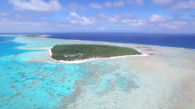 Aerial view of Palmerston Island