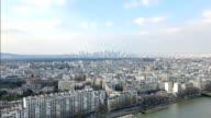 Aerial view of Paris La Défense