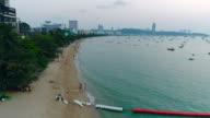 Aerial View of Pattaya Beach.