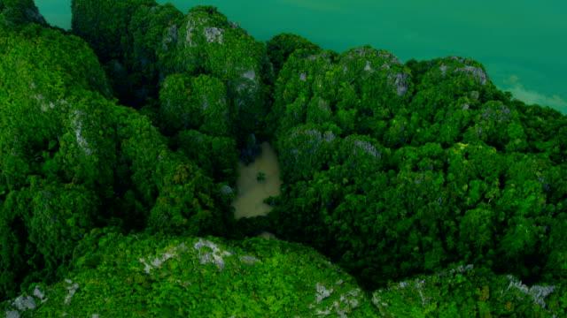 Aerial view of Phang nga bay, Thailand