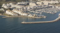 Aerial view of Puerto Banus, Costa del Sol, Marbella, Andalusia, Spain