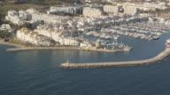 Aerial view of Puerto Banus, Costa del Sol, Marbella, Andalusia, Spain