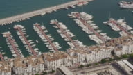 aerial view of Puerto Banus marina on western edge of Marbella