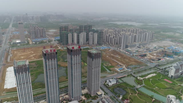 Aerial View of Real Estate in China