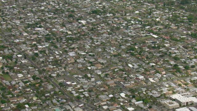 Aerial view of residential neighborhood of Kailua on the Island of Oahu in Hawaii.
