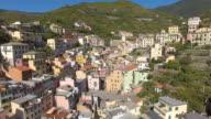 Aerial view of Riomaggiore viliage at Cinque Terre coast