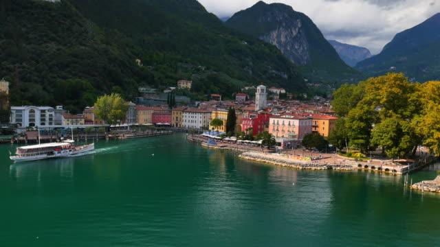 Aerial view of Riva and Lake Garda