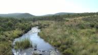 Aerial view of river in Waterberg Biosphere