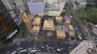 WS HA Aerial View of Shanghai Jingan Temple