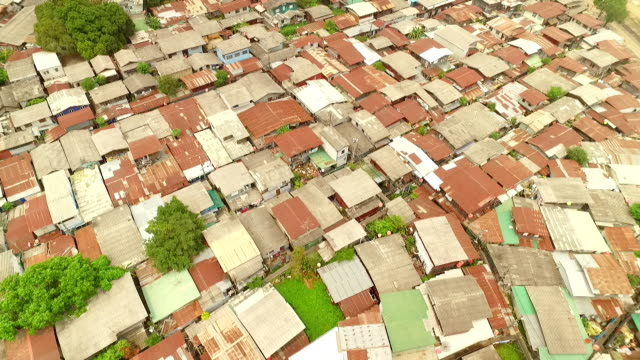 Aerial view of slums from Bangkok, Thailand