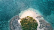 Aerial (drone) view of small tropical island