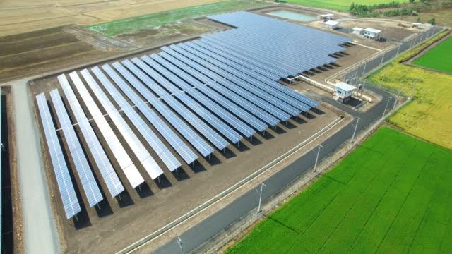 Aerial view of Solar cell farm