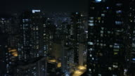Aerial view of songdo International Business District at night