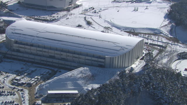 Aerial view of Speed Skating Stadium (Place for 2018 Winter Olympics)