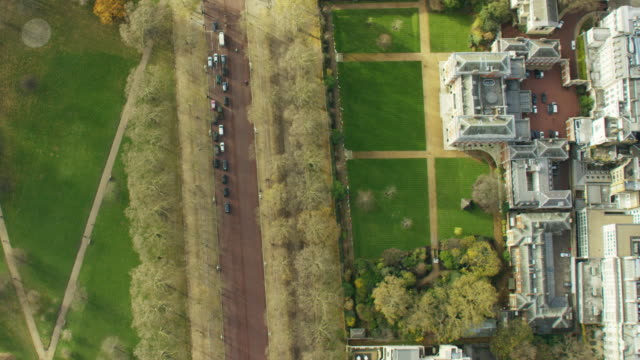 Aerial view of St James Park in London