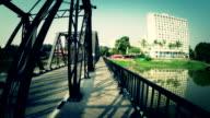 Luftaufnahme der Stahl Brücke in Chiang mai Thailand