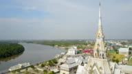 Aerial view of Thai Temple church
