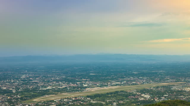 Aerial View of the Airport in Chiang mai Thailand