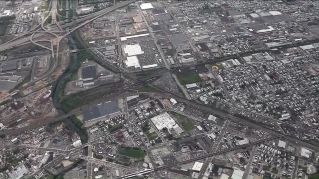 Aerial view of the Amtrak train derailment in Philadelphia USA on May 13 2015 The train was headed to New York City from Washington when it fully...