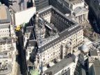 Aerial view of the Bank of England London