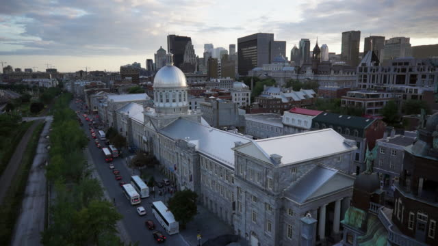 Aerial view of the Bonsecours Market