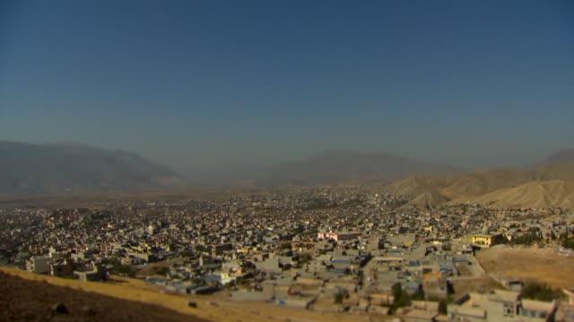Aerial view of the city of Soran in Iraqi Kurdistan
