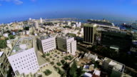 Aerial view of the city port Haifa