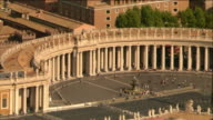 Aerial view of the colonnade at St. Peter's Square in Vatican City / Rome, Italy